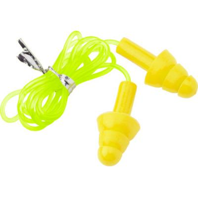 Image of Silicone ear plugs attached to a cord.