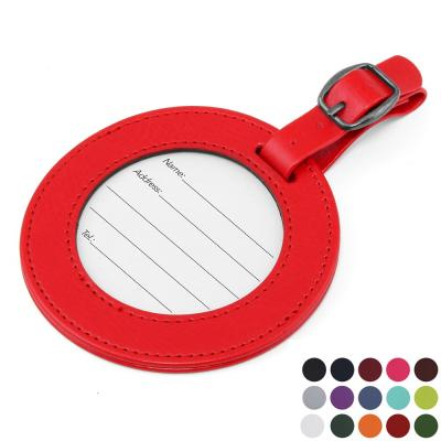 Image of Belluno Coloured  PU Round Luggage Tag